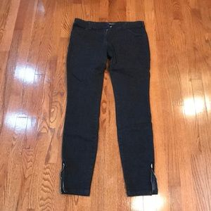 EUC Balenciaga jeans -dark blue black w/ ankle zip